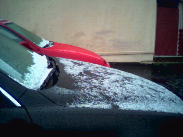 Snow in Watsonville, California